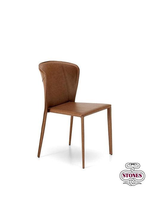 Set 2 sedie design pelle