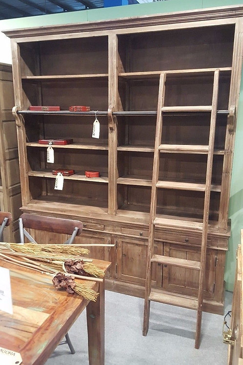 Libreria design etnico vintage industriale legno