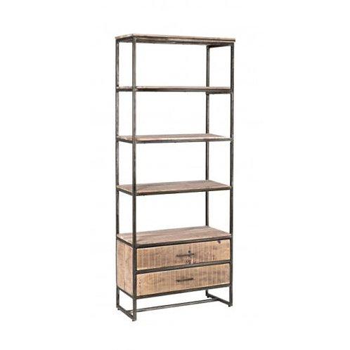 Libreria ferro legno industriale