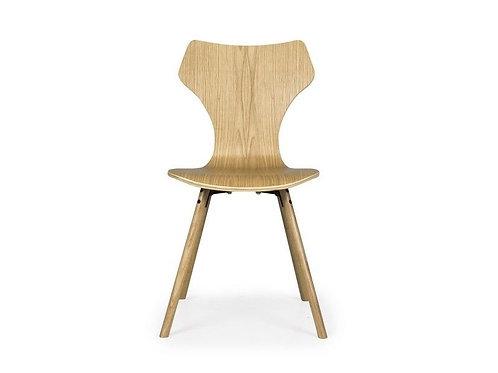 Se 4 sedie legno chiaro anni 60