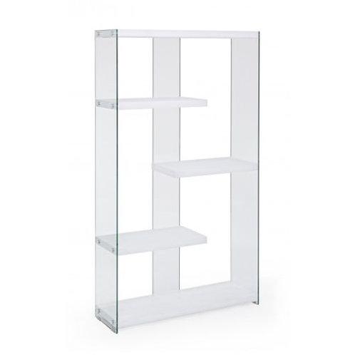Libreria design legno vetro