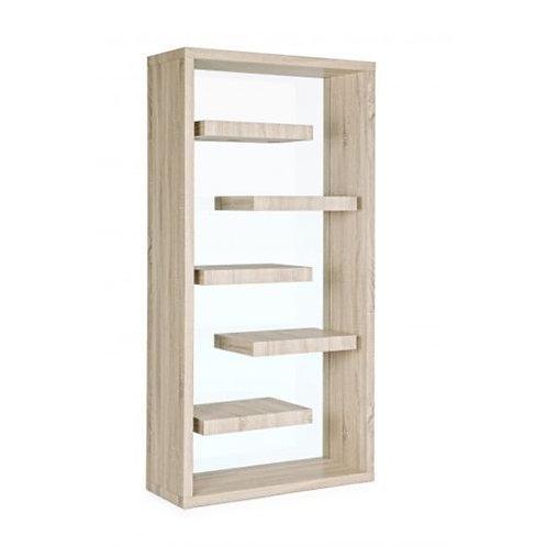 Libreria design legno e vetro