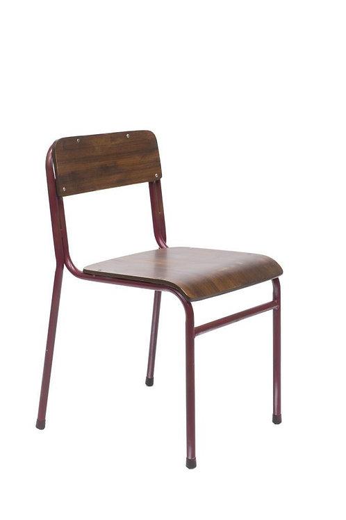 Set 2 sedie scuola design vintage