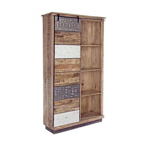 Libreria design vintage legno