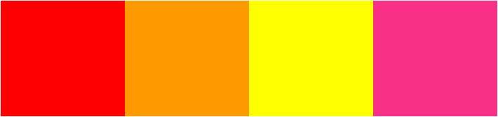 paleta de cores para festa