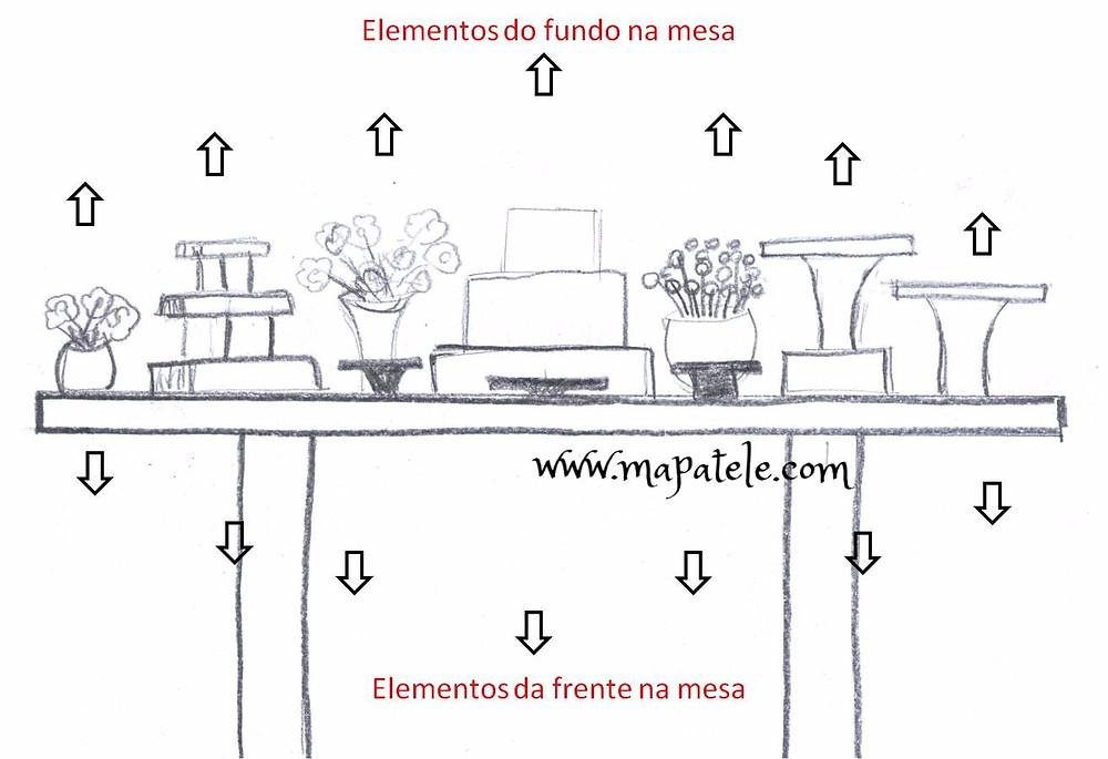 decoração de festas - montagem de mesa