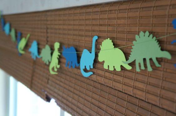 Bandeirinhas de Dinossauros