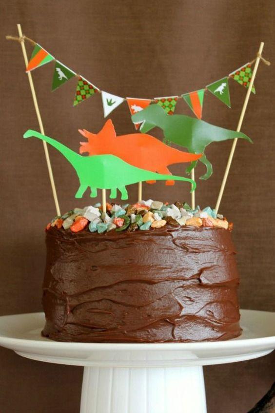 ideias festa dinossauro