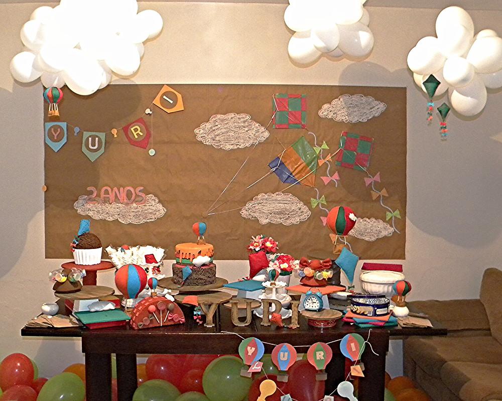 Mesa Pipas e Balões