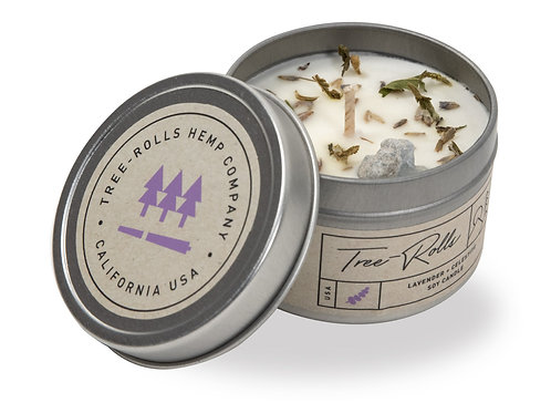 Tree-Rolls Lavender Candle