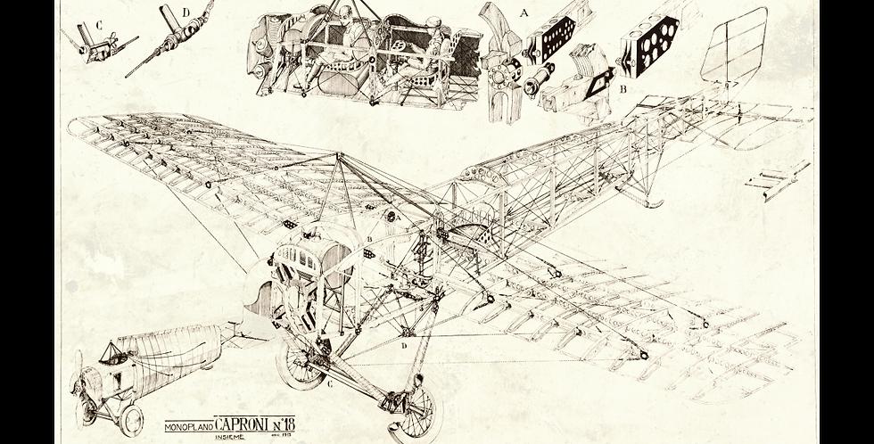 Aeroplano Caproni Ca.18 1913