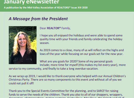 January 2020 Newsletter Issue XIII