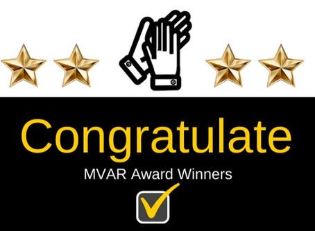 Annual MVAR Award Winners!