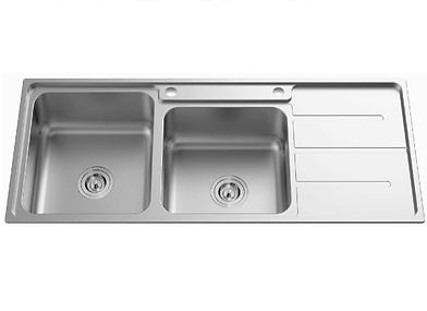 Newmatic kenya double bowl kitchen sink