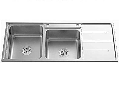 Newmatic kenya double bowl kitchen sink
