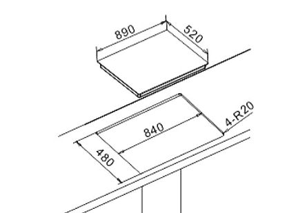 Newmatic built in hob dimensions