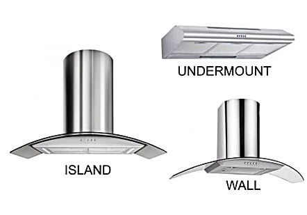 Newmatic island wall undermount kitchen hoods