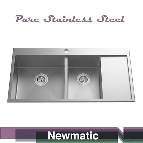 Double 100 Handcrafted Kitchen Sink