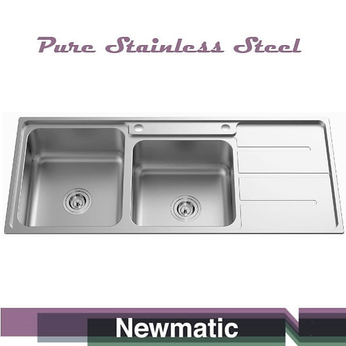 Double 116 Ultra Deep Bowl Kitchen Sink