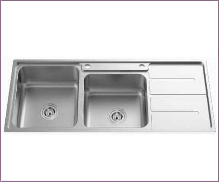 Newmatic Kenya choose a kitchen double bowl stainless steel sink 600