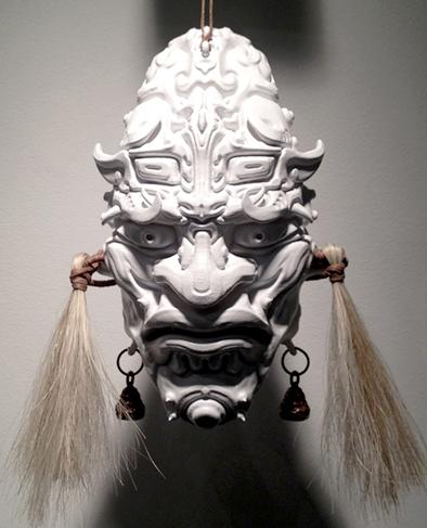Taoti Mask: Plastic, Steel, Horse Hair