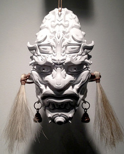 Taoti Mask: Plastic, Steel, Horse Hair
