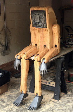 Articulated Figure: Wood & Aluminum