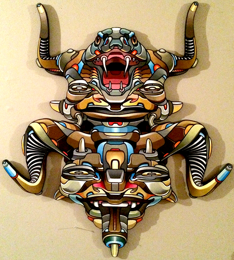 Snakehead Mask: Wood & Acrylic