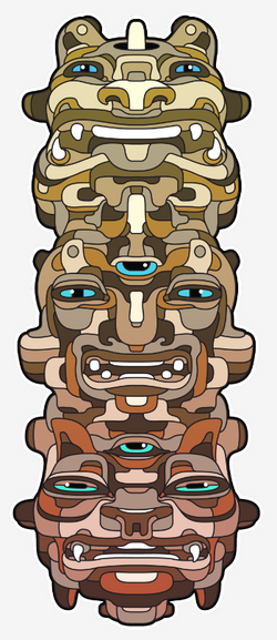 Totem Sticker Design