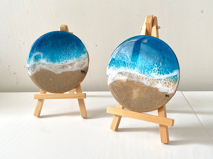 Blue Diamond Desktop Resin Painting