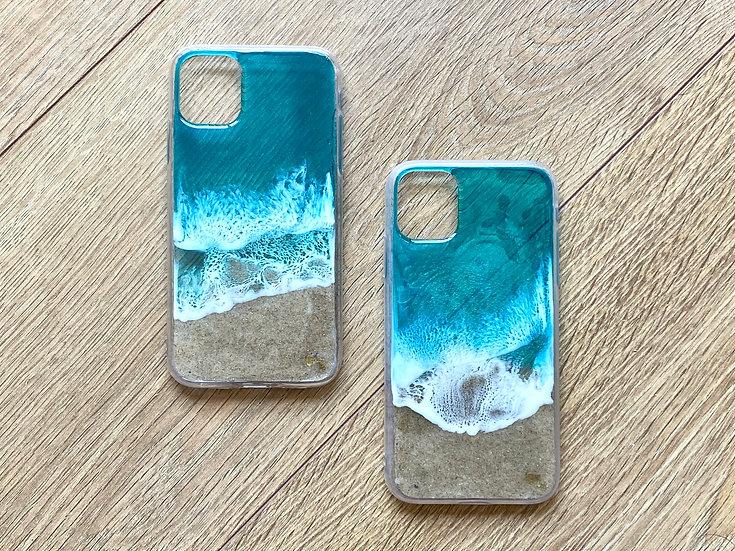 iPhone 11 - Beach Scene Phone Case (Aqua)