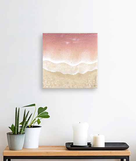 Silver Lilac Resin Painting