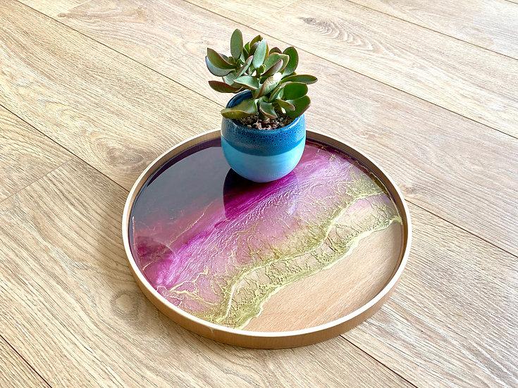 Wood Serving Tray - Violet