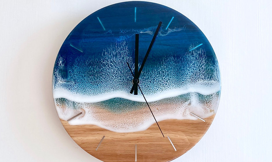 Wall Clock - Blue Diamond