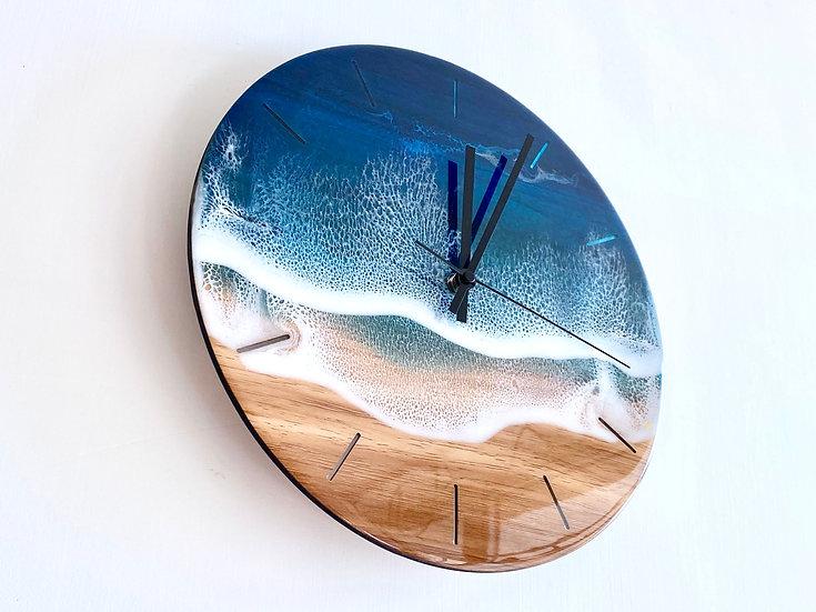 Wall Clock - Blue Diamond