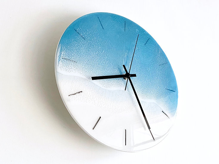 Wall Clock - Steel Blue