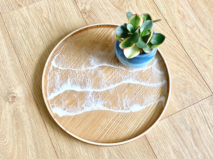 Wood Serving Tray - Crystal Clear