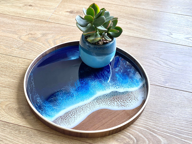 Wood Serving Tray - Midnight