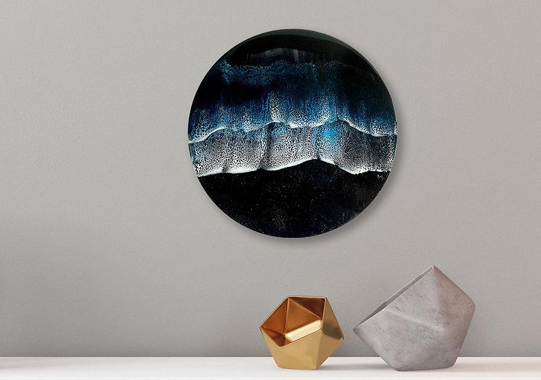 Midnight Ocean Resin Painting