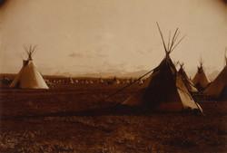 Piegan encampment 1900