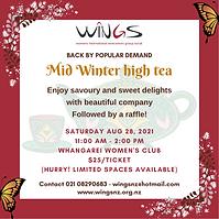 WINGS Mid Winter High Tea