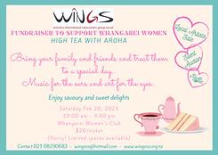 WINGS High Tea Fundraiser