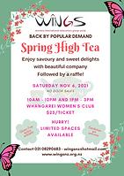 WINGS Spring High Tea