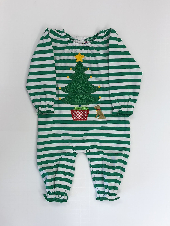 Christmas Tree Onesie.Bailey Boys Girl Christmas Tree Applique Onesie