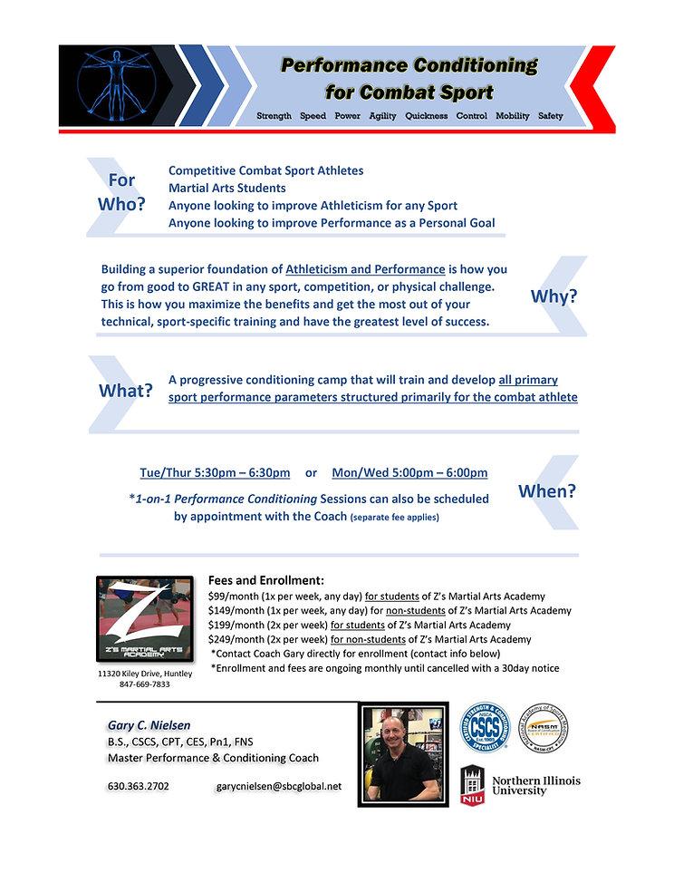 Performance Conditioning Program Flyer (