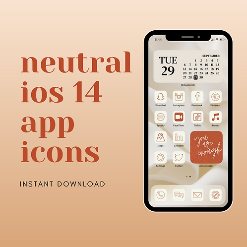 Neutral iOS 14 App Icon Set