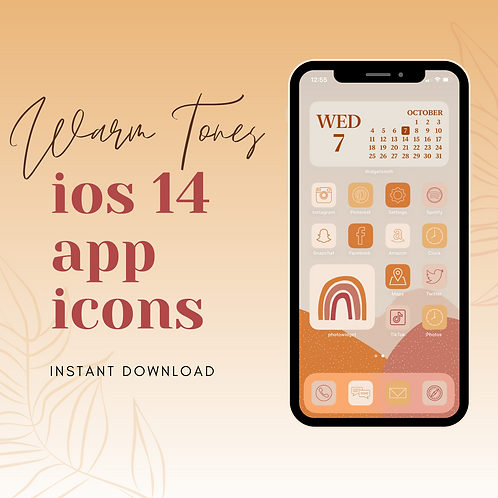 Warm Tones iOS Icon Set