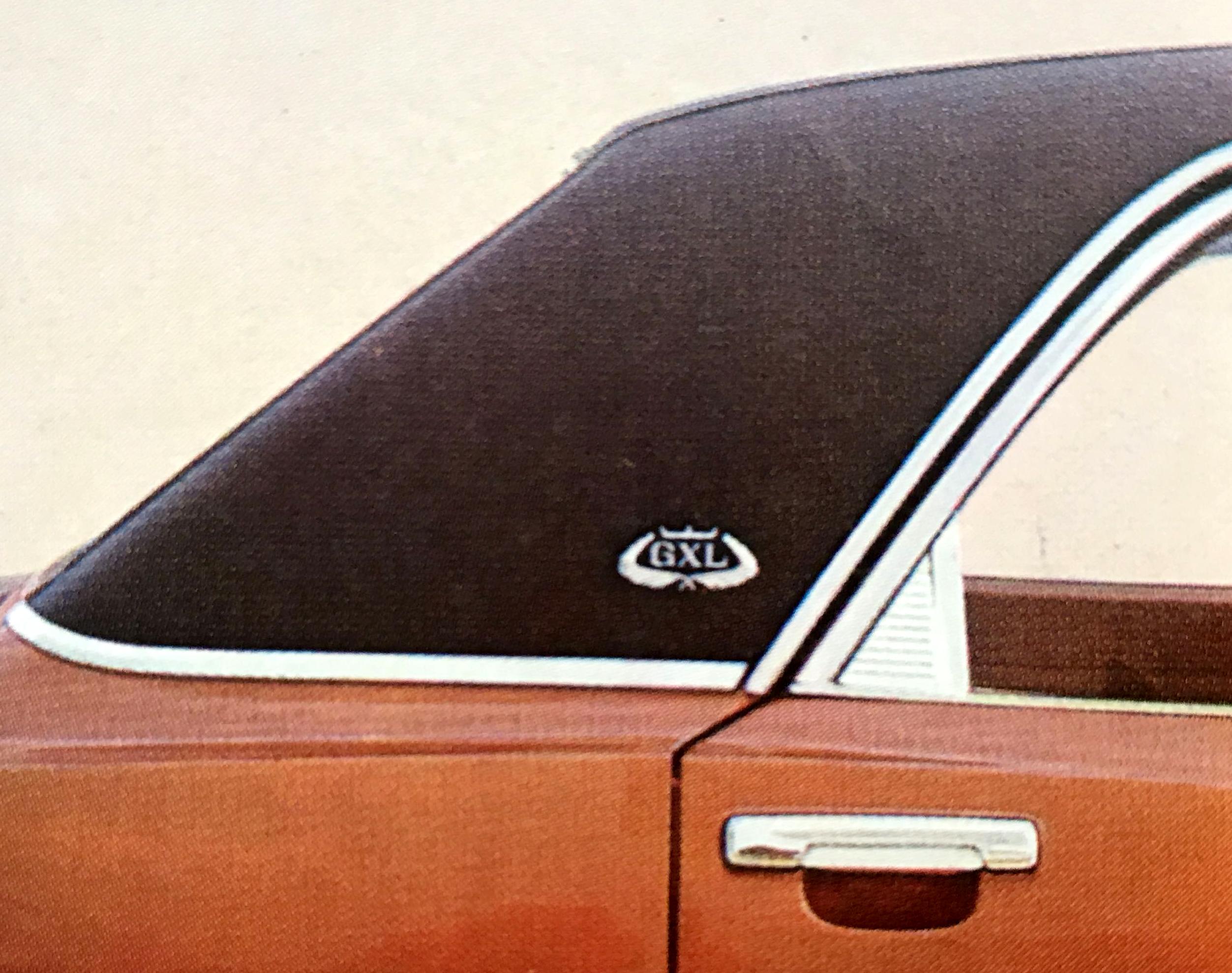 Toit vinyl noir avec emblème GXL
