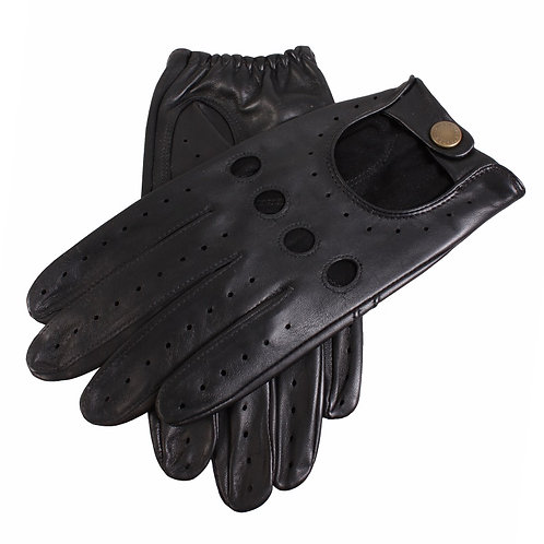 British Racing Black Leather Gloves