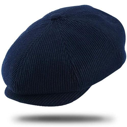 Navy Newsboy Cap